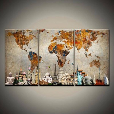 Диамантено пано Световни забележителности и карта