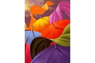 Диамантен гоблен Гора от чадъри - гора от цветове