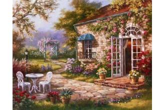 Елмазен гоблен Градинката с прекрасните цветя