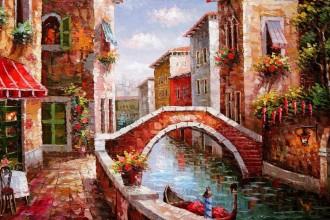 Диамантен гоблен Мостче във Венеция