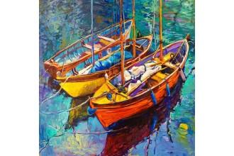 Диамантен гоблен Трите лодки