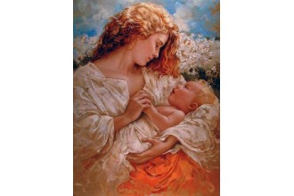 Елмазен гоблен Мама и бебе