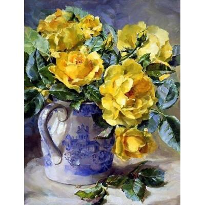 Елмазен гоблен Жълти рози