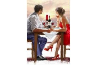 Диамантен гоблен Романтична вечеря