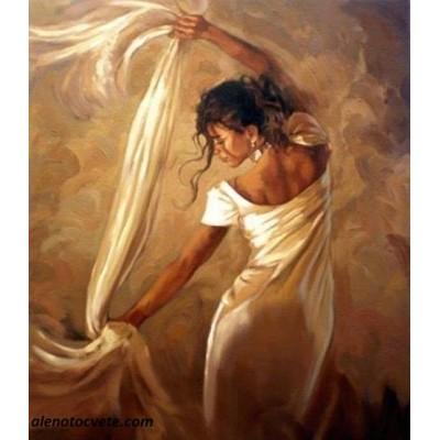 Елмазен гоблен Танцът с белия шал