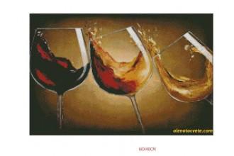 Диамантен гоблен Вино да се лее за празника!