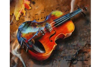 Диамантен гоблен Цигулка