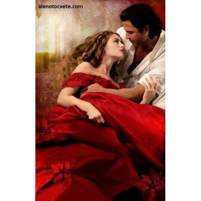 Диамантен гоблен Червена рокля - бурни страсти